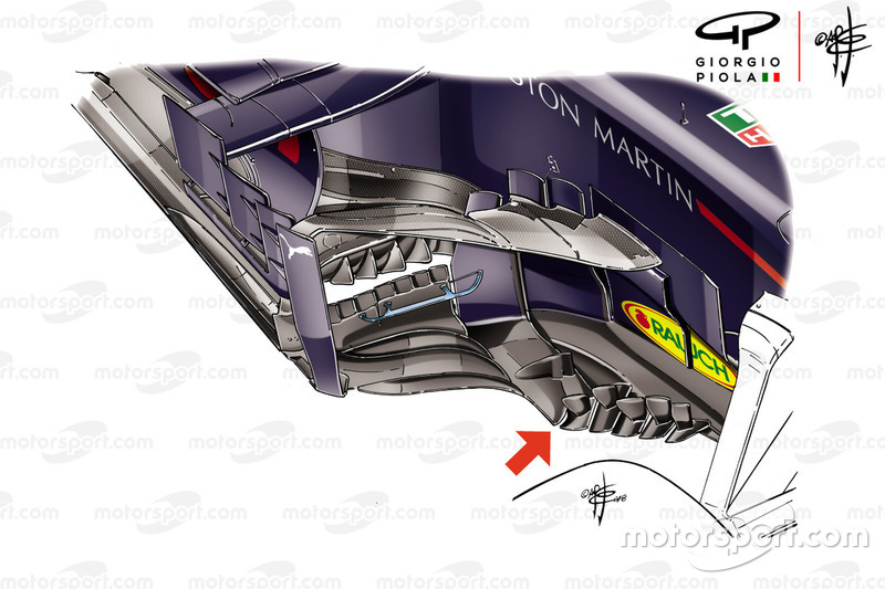 Pontones del Red Bull Racing RB14 para el GP de Francia.