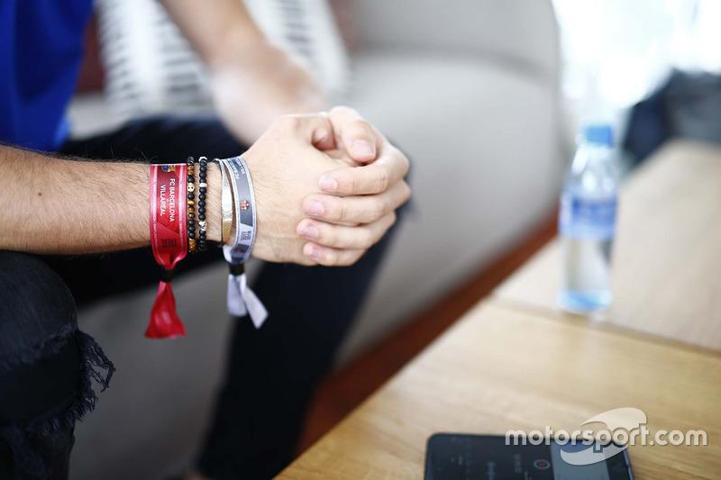 Pierre Gasly, Scuderia Toro Rosso, saat sesi wawancara bersama majalah F1 Racing