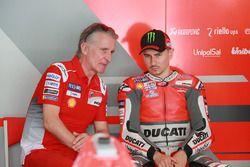 Paolo Ciabatti, Ducati Sporting director, Jorge Lorenzo, Ducati Team