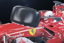 Sebastian Vettel, Ferrari SF70H avec un impact de pneu