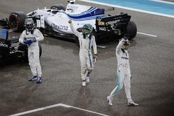 Valtteri Bottas, Mercedes AMG F1, Lewis Hamilton, Mercedes AMG F1 and Felipe Massa, Williams celebra
