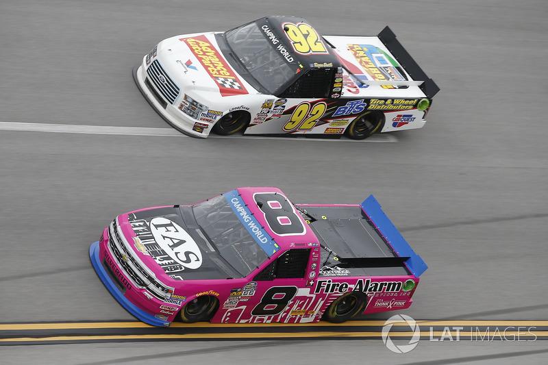 John Hunter Nemechek, SWM-NEMCO Motorsports Chevrolet Regan Smith, Ricky Benton Racing Ford