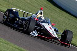 Josef Newgarden, Team Penske Chevrolet, mit Cockpitschutz