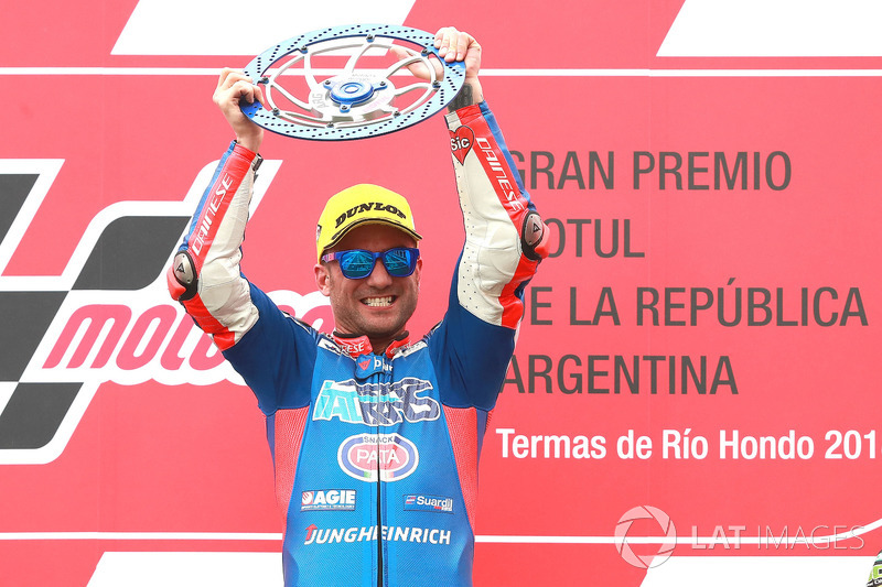 Race winner Mattia Pasini, Italtrans Racing Team