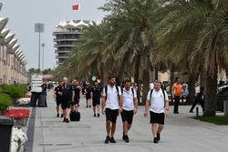 Teams arrive in the Paddock