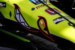 Nase des Autos von Sébastien Bourdais, Dale Coyne Racing with Vasser-Sullivan Honda