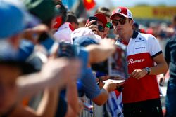Charles Leclerc, Sauber, signs autographs and has his picture taken by fans
