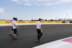 Fernando Alonso, McLaren, walks the track