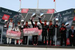 Podium: Race winner #1 Belgian Audi Club Team WRT Audi R8 LMS: Alex Riberas, Christopher Mies, second place #88 Akka ASP Team Mercedes-AMG GT3: Raffaele Marciello, Michael Meadows, third place #63 GRT Grasser Racing Team Lamborghini Huracan GT3: Mirko Bortolotti, Christian Engelhart