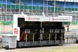 Haas F1 Team pit wall gantry