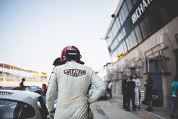 Jaguar driver in the pitlane
