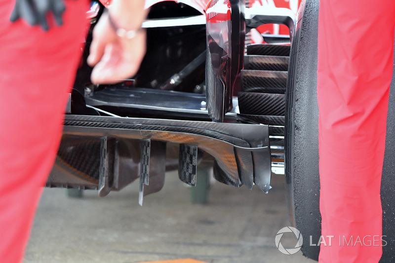 Ferrari SF71H diffuser detail