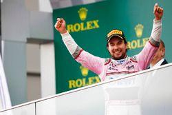Sergio Perez, Force India, sur le podium