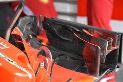 Vue détaillée de l'aileron avant de la Ferrari SF71H de Sebastian Vettel