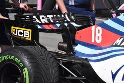 Vue détaillée de l'aileron arrière de la Williams FW41