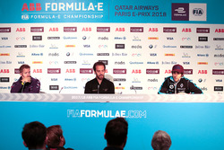 Sam Bird, DS Virgin Racing, Jean-Eric Vergne, Techeetah, Nicolas Prost, Renault e.Dams, in the Friday press conference