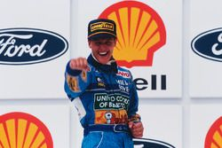 Podium: race winner Michael Schumacher, Benetton
