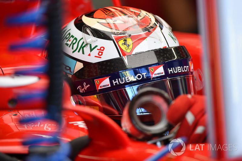 Kimi Raikkonen, Ferrari SF70H ventilador de enfriamiento