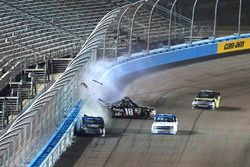 Christopher Bell, Kyle Busch Motorsports Toyota, Noah Gragson, Kyle Busch Motorsports Toyota, crash