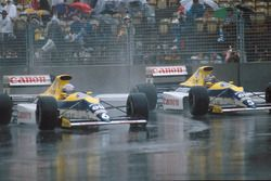 Riccardo Patrese, Williams FW13, Thierry Boutsen Williams FW13