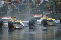 Ricardo Patrese, Williams FW13, Thierry Boutsen Williams FW13