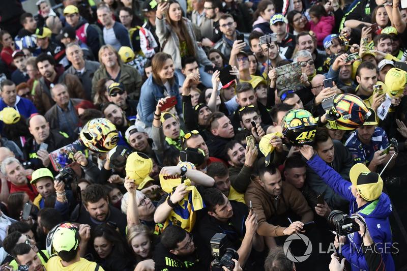 Valentino Rossi et ses fans
