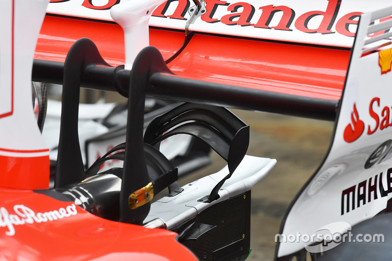 Ferrari SF70H rear wing detail