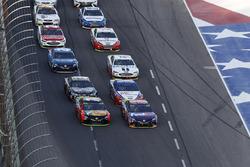Martin Truex Jr., Furniture Row Racing Toyota, Denny Hamlin, Joe Gibbs Racing Toyota