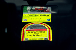 Access and Pass stickers of Ross Brawn, Motor Sports Formula One Managing Director