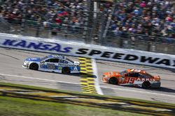 Dale Earnhardt Jr., Hendrick Motorsports Chevrolet and Daniel Suarez, Joe Gibbs Racing Toyota