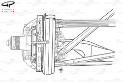 Ferrari F2003-GA front brake and suspension assembly
