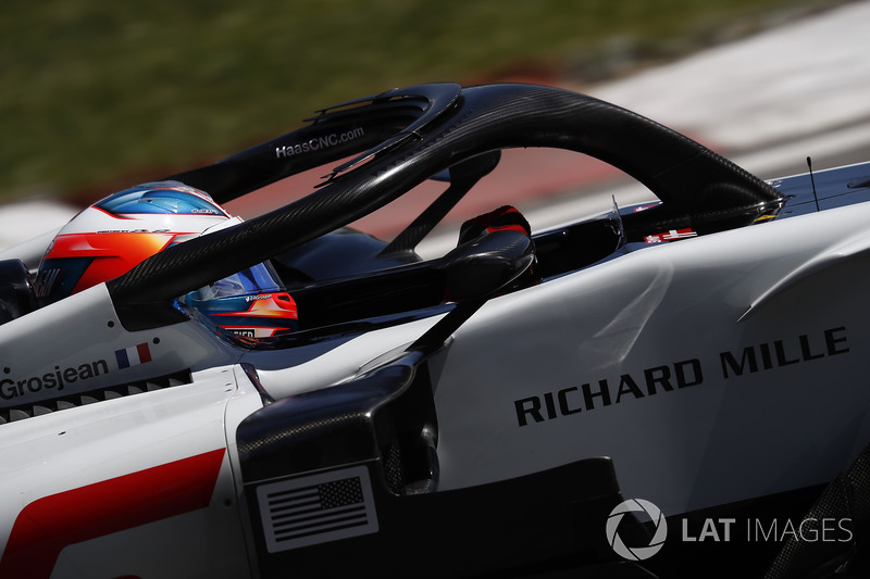 Romain Grosjean, Haas F1 Team VF-18.