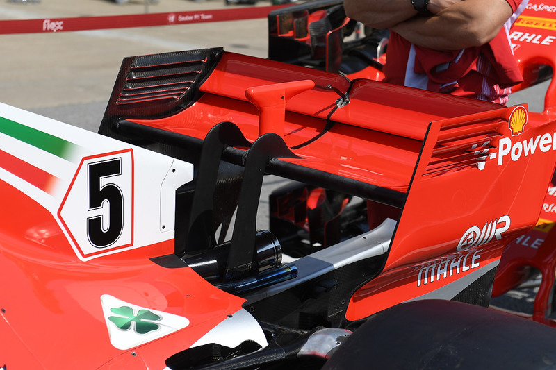 Ferrari SF71H ala trasera