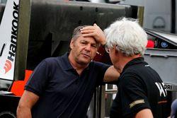 Gerhard Berger, ITR Chairman DTM, Frits van Amersfoort, Team Principal Van Amersfoort Racing
