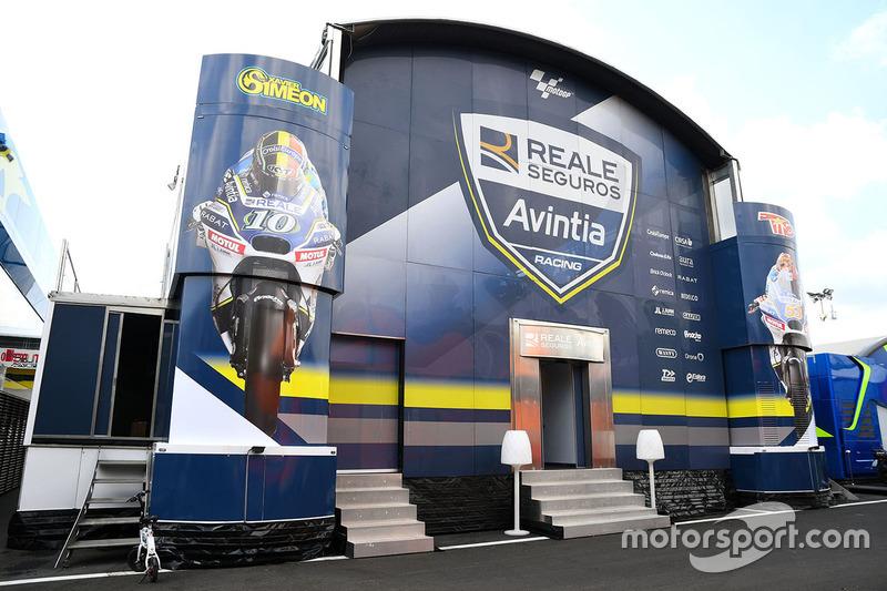 Avintia Racing motorhome