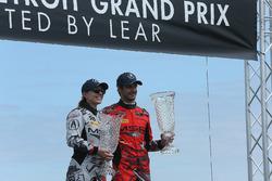 GTD Winners: #86 Michael Shank Racing with Curb-Agajanian Acura NSX, GTD: Katherine Legge, Mario Farnbacher