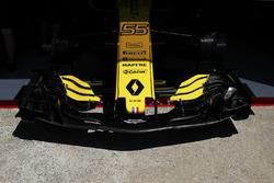 Nose detail of the Carlos Sainz Jr. Renault Sport F1 Team R.S. 18