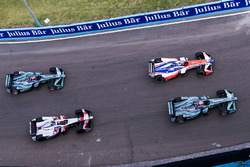 Nelson Piquet Jr., Jaguar Racing, Felix Rosenqvist, Mahindra Racing, Edoardo Mortara, Venturi Formula E Team e Mitch Evans, Jaguar Racing