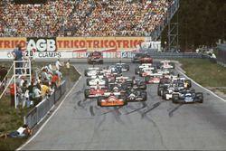 GP di Svezia del 1975, la partenza della gara