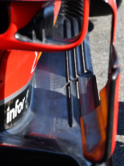 Detalles de los bargeboards del Ferrari SF71H