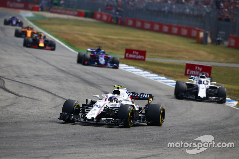 Sergey Sirotkin, Williams FW41, Lance Stroll, Williams FW41