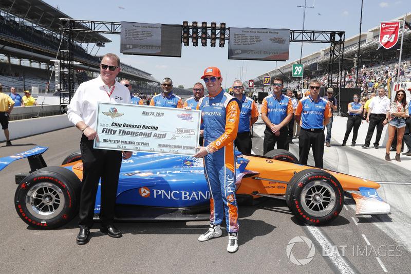 Scott Dixon, Chip Ganassi Racing Honda, Pit Stop yarışması galibi