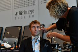 Sergey Sirotkin, Williams, en el set de maquillaje