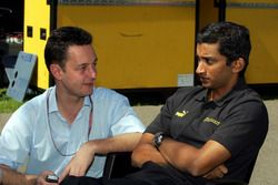 Narain Karthikeyan, Jordan talks with Piers Hunnisett