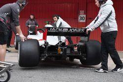 Haas F1 Team VF-18 achterkant