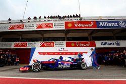 Pierre Gasly, Scuderia Toro Rosso and Brendon Hartley, Scuderia Toro Rosso unveil the new Scuderia Toro Rosso STR13