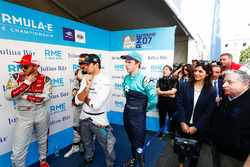 Daniel Abt, Audi Sport ABT Schaeffler, Nelson Piquet Jr., Jaguar Racing, Oliver Turvey, NIO Formula E Team. Virginia Elena Raggi, Sindaca di, Jean Todt, Presidente FIA, nel media pen