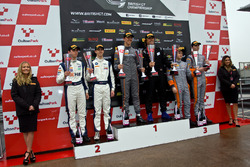 Podium GT4: Race winners #72 Track-Club McLaren 570S GT4: Adam Balon, Ben Barnicoat, second place #42 Century Motorsport BMW M4 GT4: Ben Green, Ben Tuck, third place #4 Tolman Motorsport McLaren 570S GT4: Michael O'Brien, Charlie Fagg