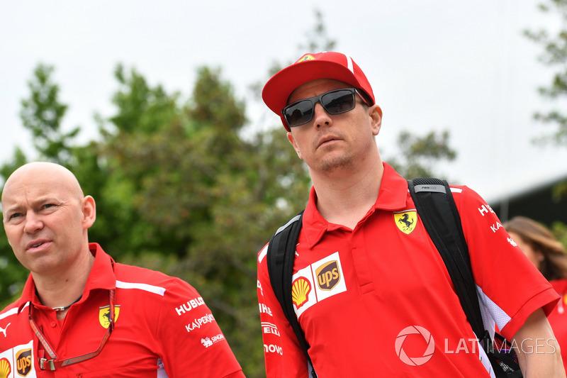 Kimi Raikkonen, Ferrari, Mark Arnall, Trainer