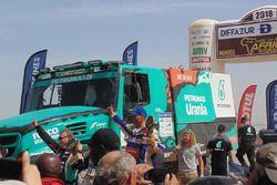 Podio Camion: primi classificati, Gerard De Rooy, Darek Rodewald, Moi Torrellardona